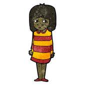Cartoon nervous woman — Stock vektor