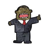 Obnoxious boss cartoon — Stock Vector