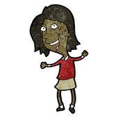 Schoolgirl cartoon — Stock Vector