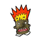 Cartoon man with exploding head — Stock Vector