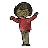 Cartoon singing boy — Stock Vector