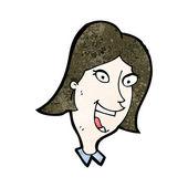 Cartoon happy woman — Stock Vector