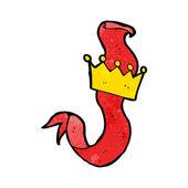 мультфильм корона ленты декоративный элемент — Cтоковый вектор