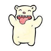 Crazy bear cartoon — Stock Vector