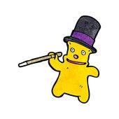 Rich teddy bear cartoon — Stock Vector