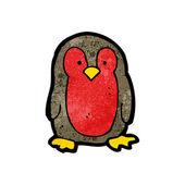 Dibujos animados de robin de navidad — Vector de stock