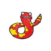 Cobra venenosa chocado dos desenhos animados — Vetorial Stock