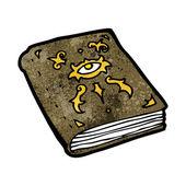 不気味な魔導べ書 — ストックベクタ