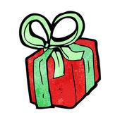 мультфильм рождественский подарок — Cтоковый вектор