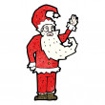 Funny santa claus cartoon — Stock Vector #21546651