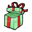 Open present cartoon — Vector de stock #21546181