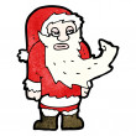 Funny santa claus cartoon — Stock Vector