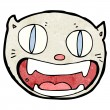 Funny cartoon cat face — Vettoriali Stock