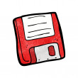 Cartoon retro floppy disk — Stock Vector #21549017