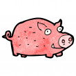 Stock Vector: Cartoon pig