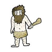 Cartoon cave man — Stock Vector