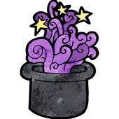 Cartoon magic top hat — Stock Vector