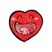 Desenho animado coração feliz — Vetorial Stock