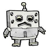 脂肪机器人卡通 — 图库矢量图片