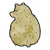 Dibujos animados de oso blanco — Vector de stock