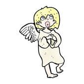 Blond engel — Stockvektor