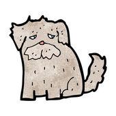 Dibujos animados de perrito triste — Vector de stock