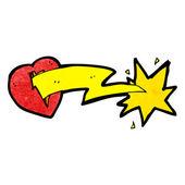 Cartoon lightning bolt heart — Stock Vector
