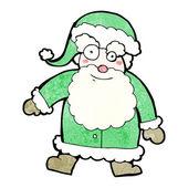 Traditional green santa claus cartoon — Stock Vector