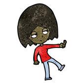 Black Girl — Stock Vector