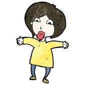 卡通惊讶的女人 — 图库矢量图片