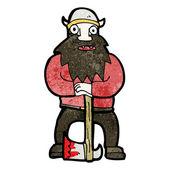 Dibujos animados de vikingo — Vector de stock