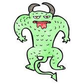 Dibujos animados de monstruo loco — Vector de stock