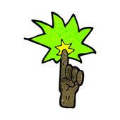 Cartoon pointing finger — Stock Vector