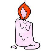 Cartoon candle — Stock Vector