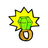 Cartoon anillo de poder — Vector de stock