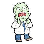 Allergic reaction cartoon — Stock Vector