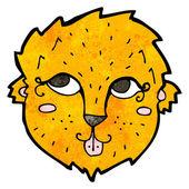 Friendly cartoon lion face — Stock Vector