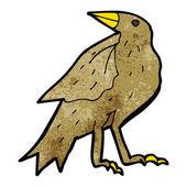 Cartoon pecking bird — Stock Vector