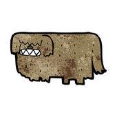 Cartoon hairy dog — Stock Vector