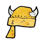 Dibujos animados de casco de vikingo — Vector de stock