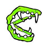 动漫吸血鬼的牙齿 — 图库矢量图片