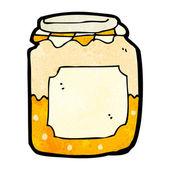 Cartoon marmalade pot — Stock Vector