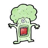 Broccoli vegetable monster — Stock Vector