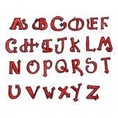 Cartoon halloween alphabet set — Stock Vector