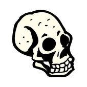 Spooky cartoon skull — Stock Vector