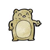 Happy fat teddy bear cartoon — Stock Vector