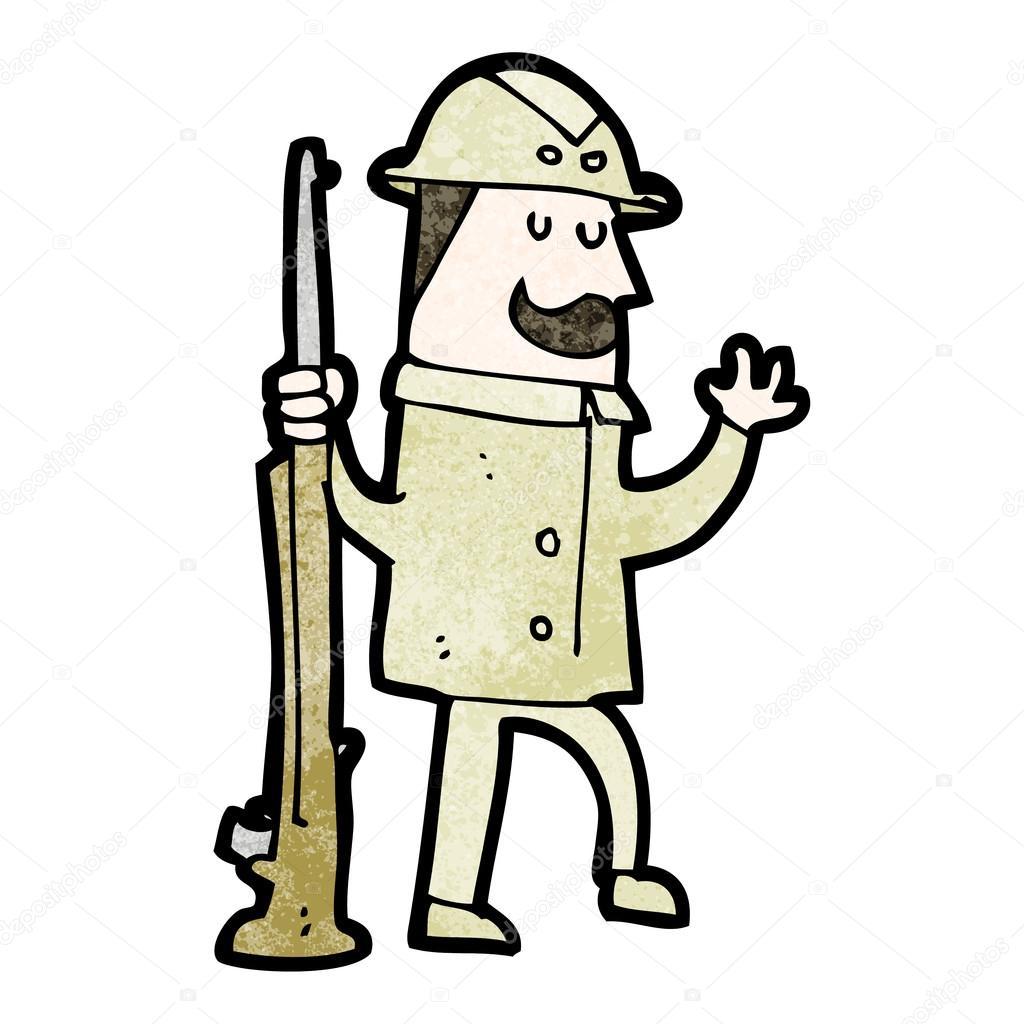 Cacciatore di safari del cartone animato — vettoriali