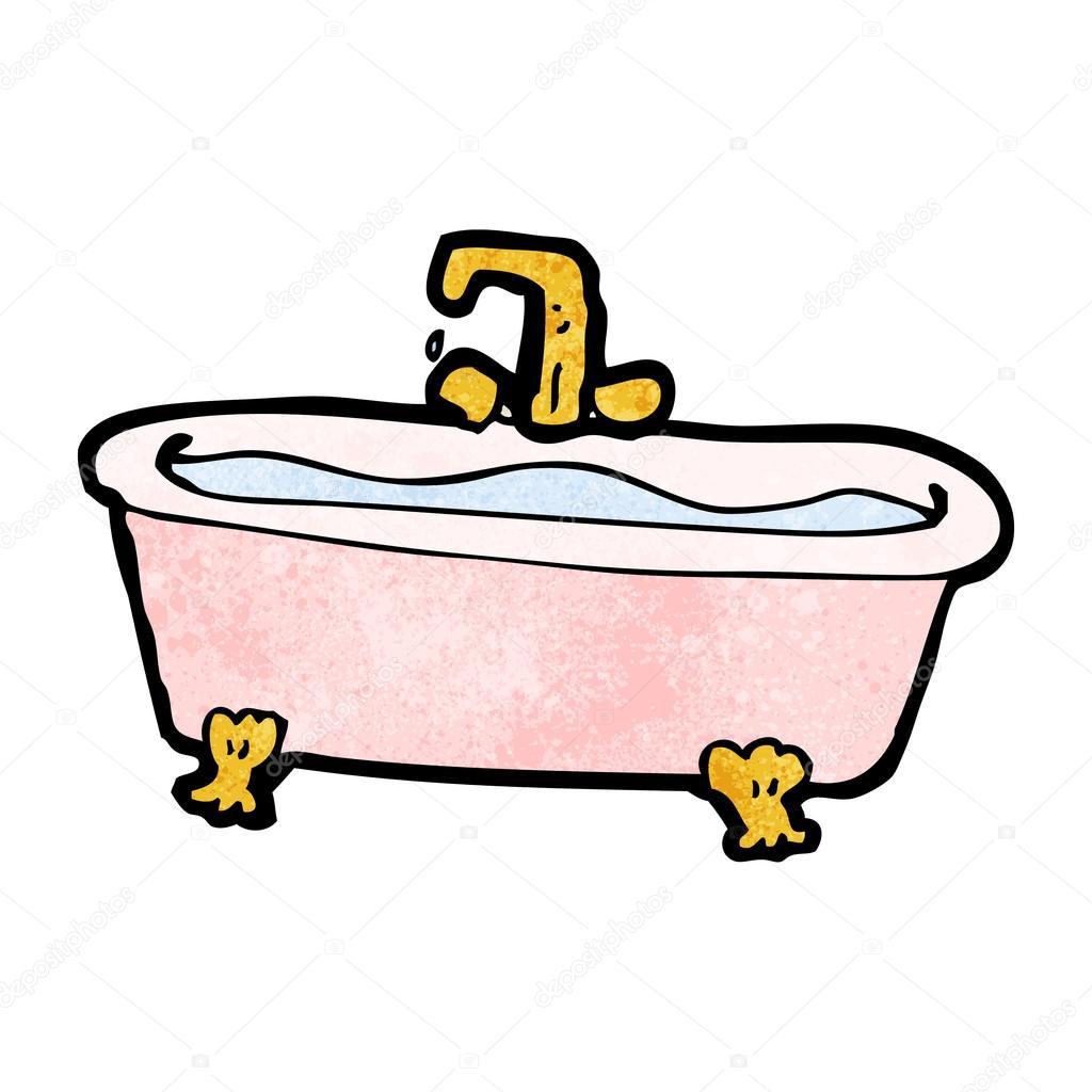 Cancion Infantil Baño De Burbujas:Baño de dibujos animados de agua — Vector de stock
