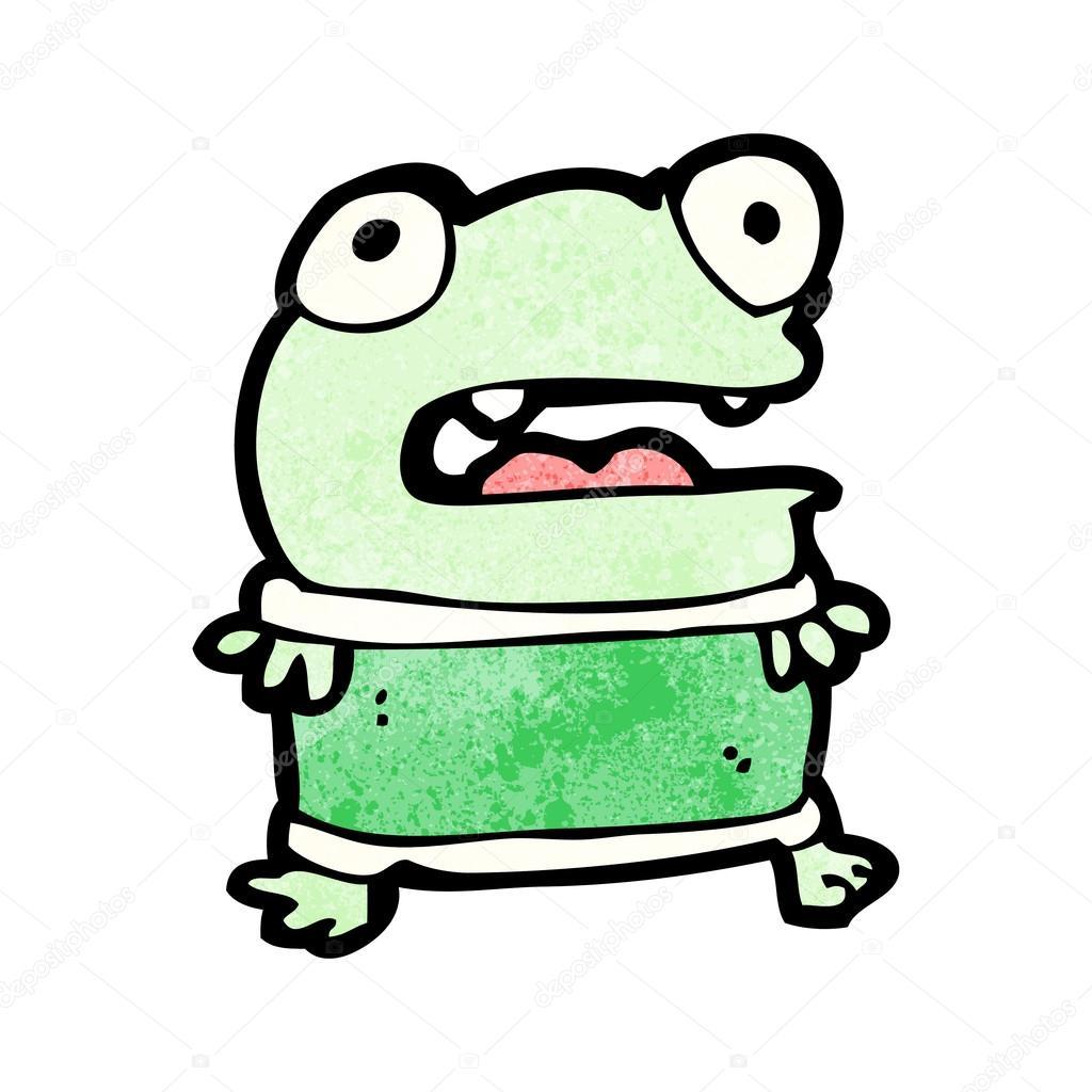 卡通小青蛙 - 图库插图图片