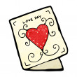 Vettoriale Stock : Cartoon valentine day card